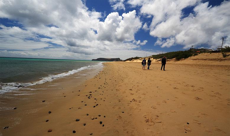 Sandstrand, bestehend aus biogenen Sedimenten in Porto Santo.