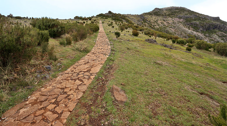 Auf dem Weg zum Pico Ruivo, Madeiras höchstem Berg.