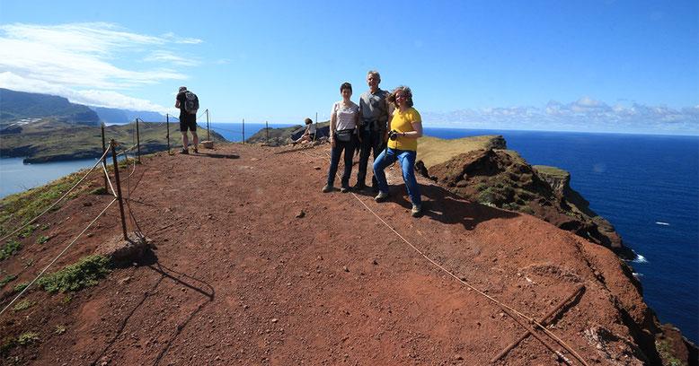 Aussichtspunkt am Ende der östlichen Landspitze Madeiras.
