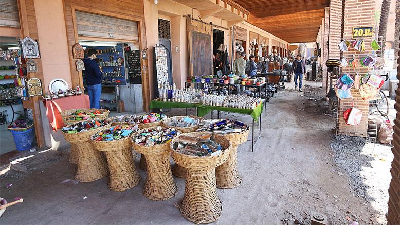 Arkaden am Jüdischen Markt in Marrakesch