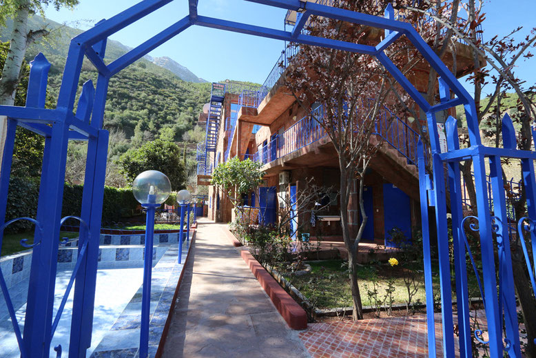 Rückseite des Hotels Ourika.