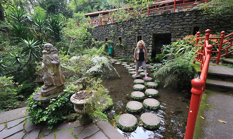 Japanischer Garten im Tropischen Garten Monte Palace.