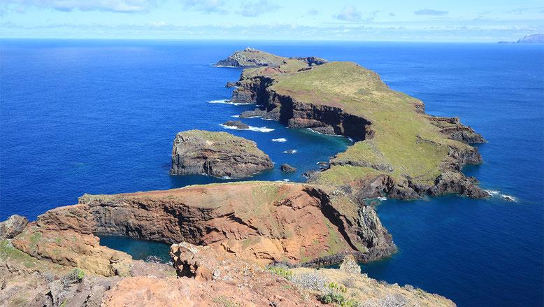 Das Ende der östlichen Landspitze Madeiras.