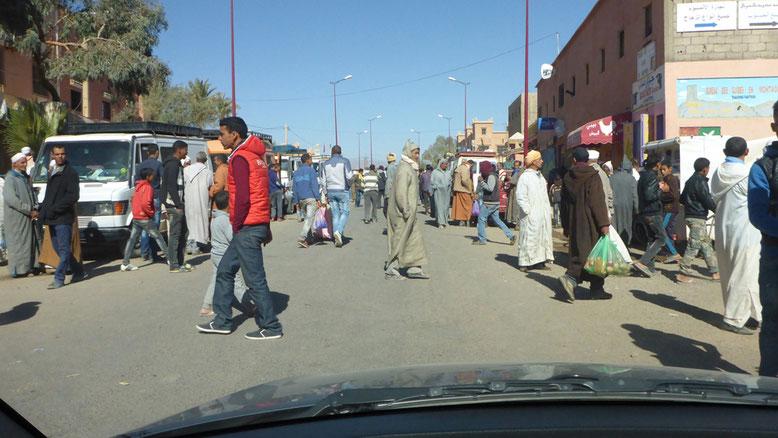 Markt in Nkob oder Nekob, wie der Ort auch genannt wird.
