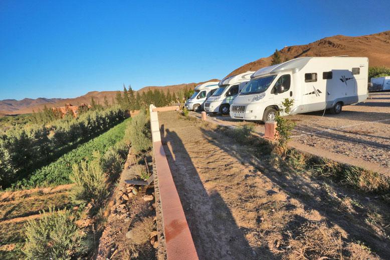 Der Auberge Camping Toubkal ist auch ein Womo-Stellplatz angeschlossen.