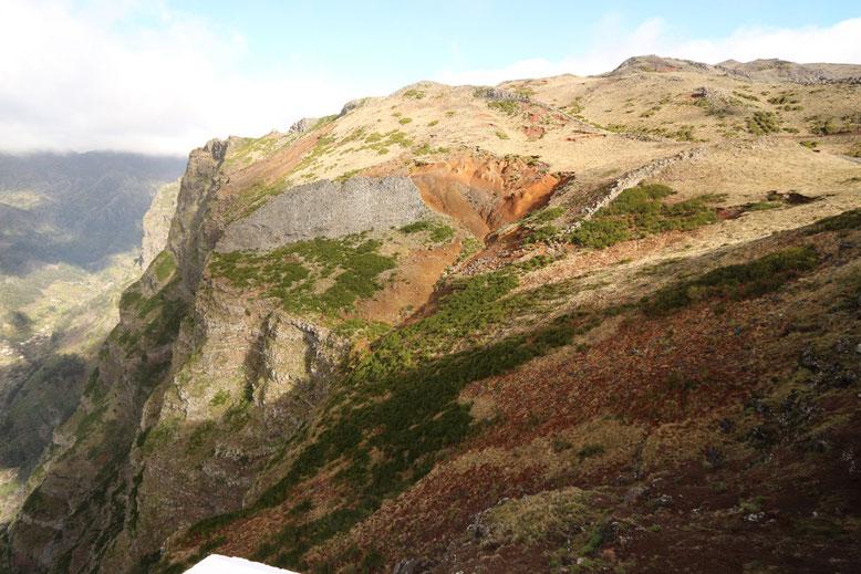Aussicht vom Fußweg Montado do Paredão West in Richtung Nonnental.