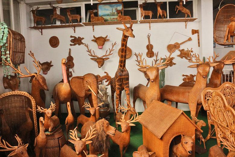 Flechtkunst in der Flechter-Kooperative von Camacha.