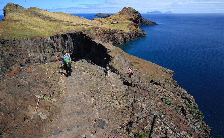 Blick auf den östlichsten Teil der Ponta de Sao Lorenco.