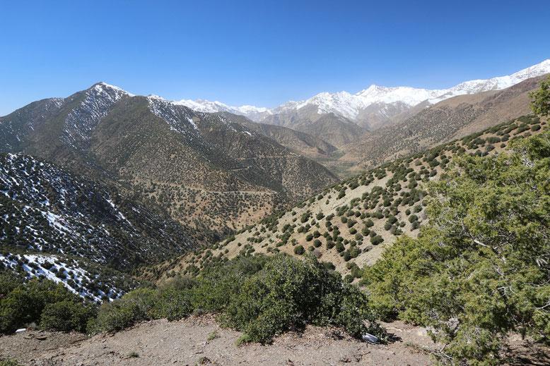 Die Passstraße zwischen Tizi-n-Test und Marrakesch.