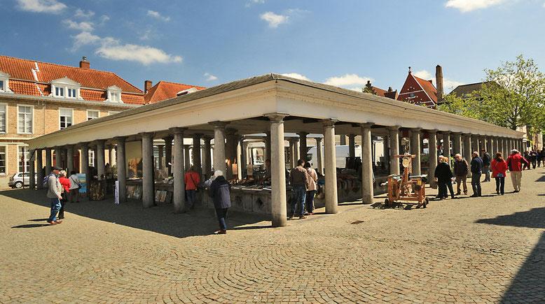 Fischmarkt in Brügge.