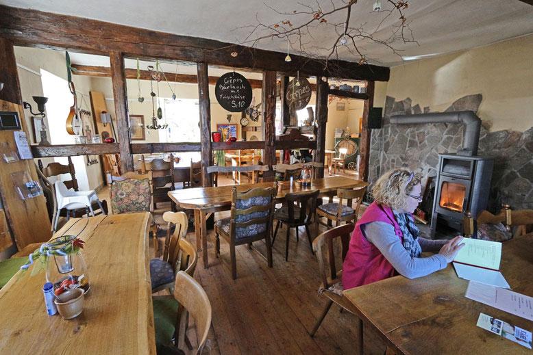 Cafe Fabula im Museumsdorf. Der Kuchen ist absolut empfehlenswert.