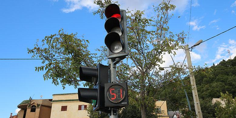 Sekundenanzeige für die Rotphase soll ungeduldige Zeitgenossen beruhigen, wird aber auch gerne genutzt, um 5 Sekunden vor Ablauf der Rotphase loszufahren. Ist ja gleich grün. Wer da nicht mitmacht wird per Hupe gemaßregelt.