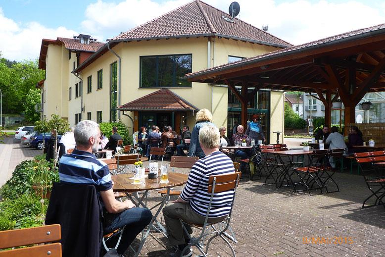 """Erlebnisbrauerei """"Abtei Bräu"""" mit WOMO-Stellplatz in Sichtweite."""
