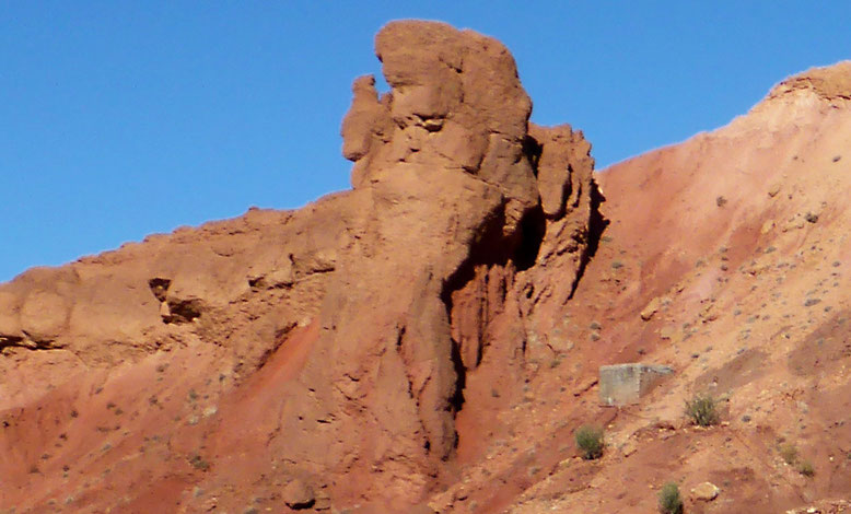 Gesicht im Fels am km 12,0.