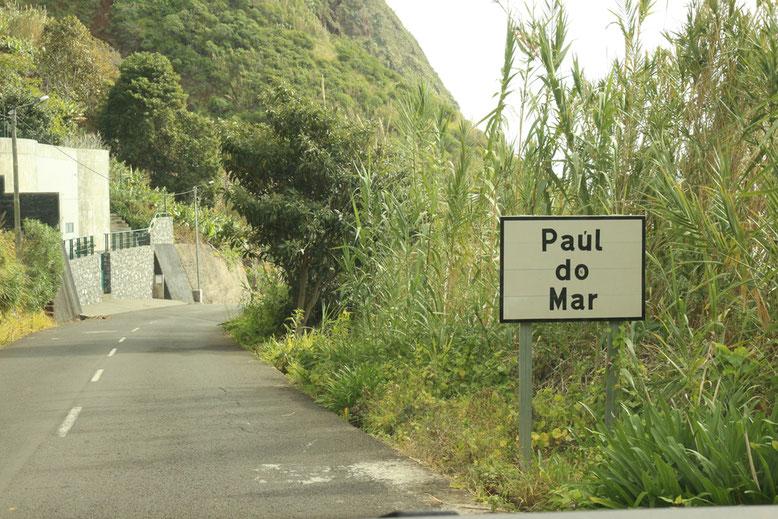 Einfahrt nach Paul do Mar.