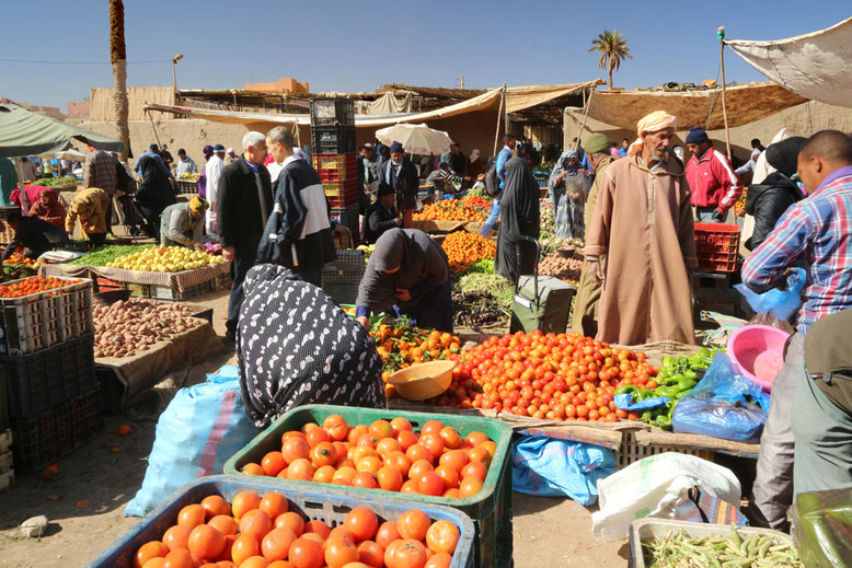 Auch das Angebot an Obst und Gemüse ist reichhaltig.