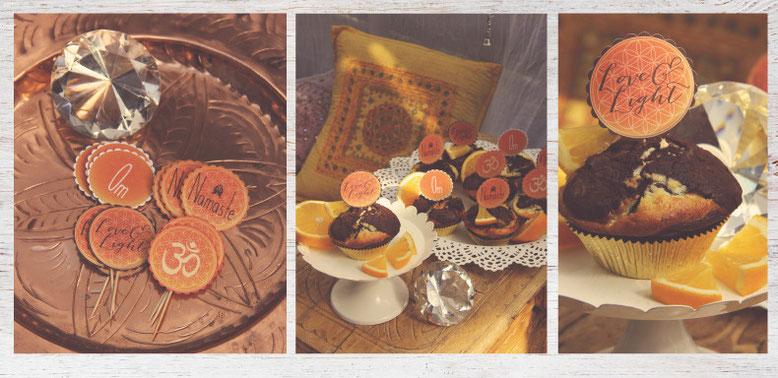 Om Namaste Cupcake topper