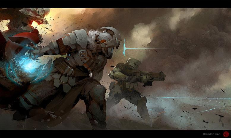 Dans le feu du combat...