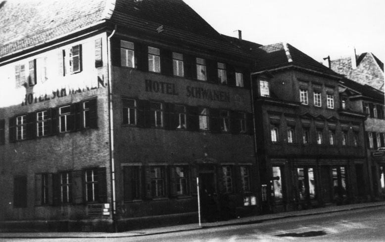 Hotel Schwanen in der Friedrichstrasse um 1940 (Foto: Stadtarchiv Balingen)