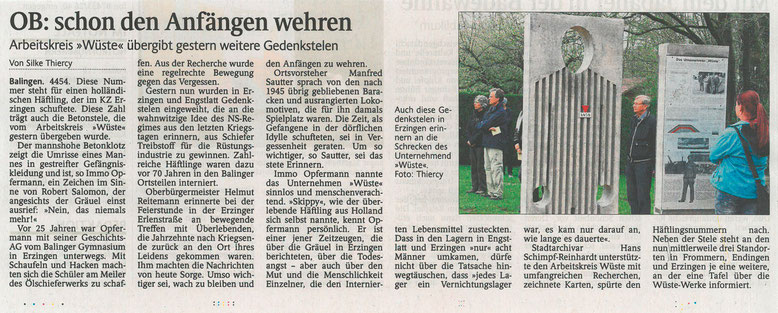 Schwarzwälder Bote, 04.05.2015