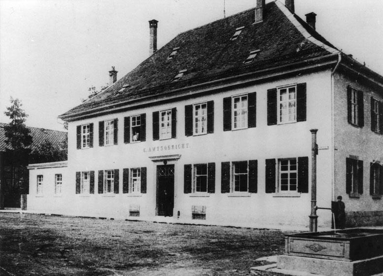 Amtsgericht um 1910 (Stadtarchiv Balingen)