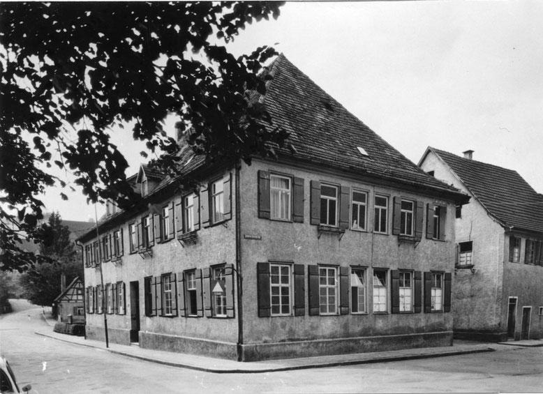 Das Alten Schulhaus um 1960 (Foto: Stadtarchiv Balingen)