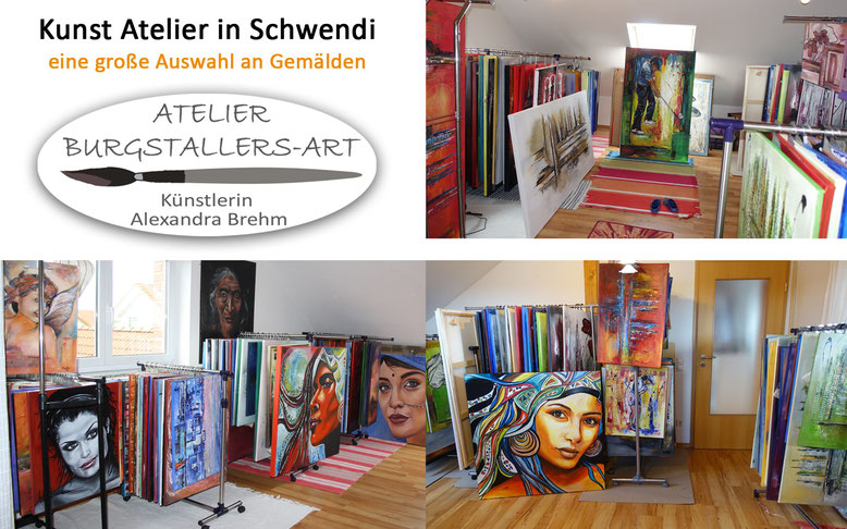 Kunst Atelier in Schwendi - Moderne und abstrakte Gemälde und Unikate