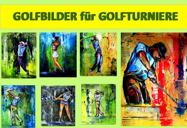 Moderne und abstrakte Golfbilder Golfer Gemälde für zahlreiche Golfturniere