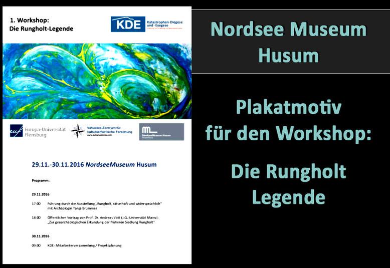 Plakatmotiv eines Gemäldes für das Nordsee Museum Husum