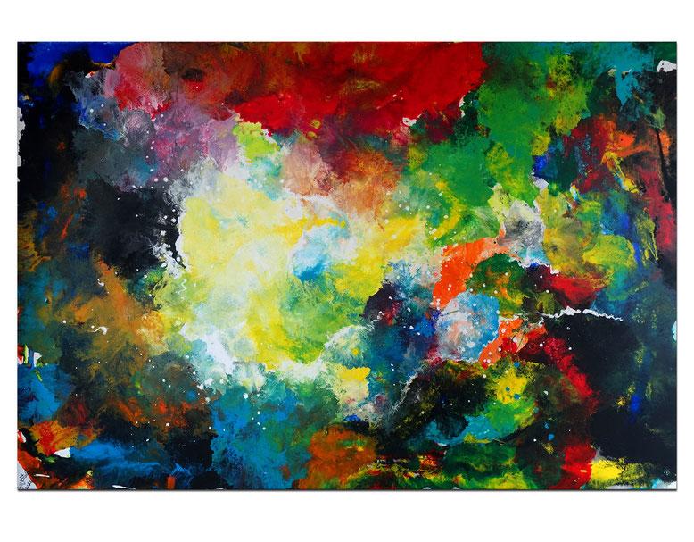 Supernova 2105 abstraktes Wohnzimmerbild Wandbild XXL Bilder Büro handgemalt