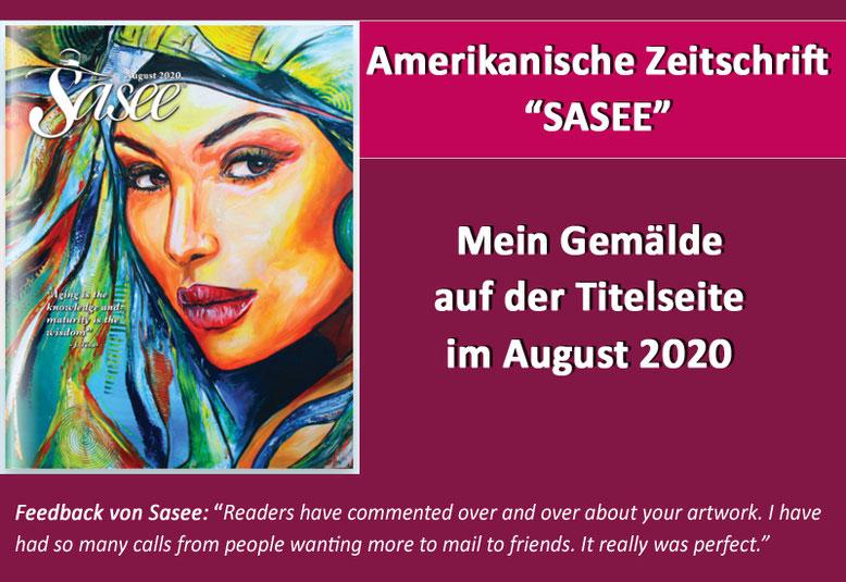 """Original Gemälde auf der Titelseite der Frauenzeitschrift """"Sasee"""""""