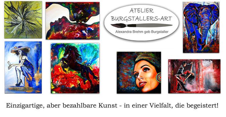 Abstrakte und modere Leinwandbilder gemalt kaufen