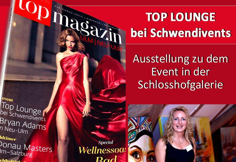 TOP LOUNGE bei Schwendivents - Präsentation im Topmagazin Ulm / Neu Ulm