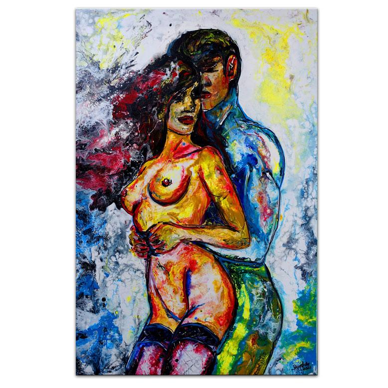Love Aktmalerei Akt Bilder Erotisch Erotik Gemälde Wandbilder  60x90x2cm