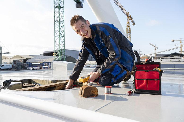 Gilles van Suijlekom, servicemonteur bij Werkina