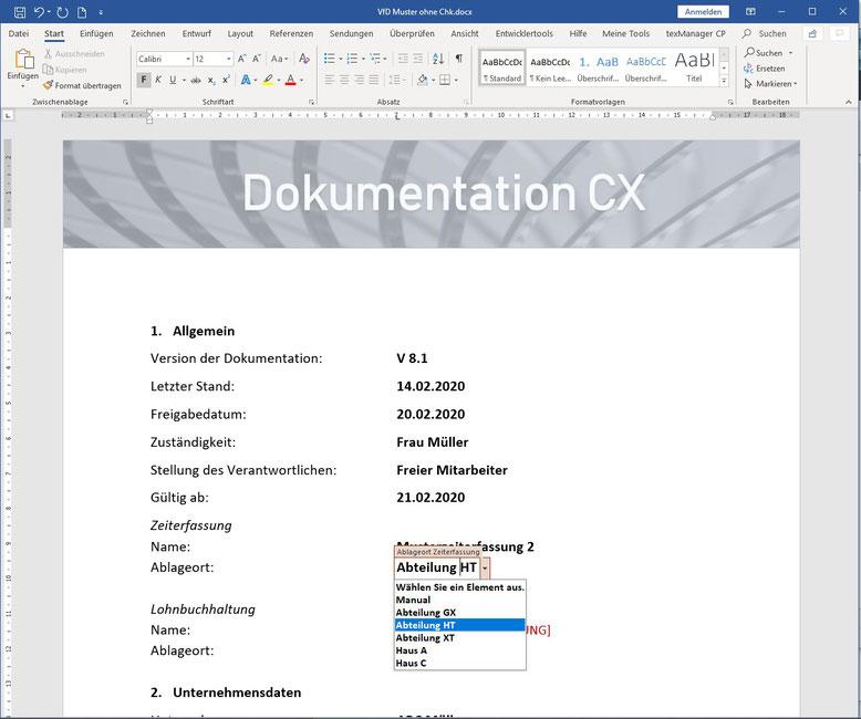 Word-Formular
