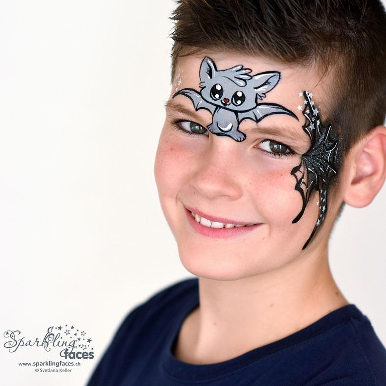 Kinderschminken Fledermaus Sparkling Faces Kinderschminken
