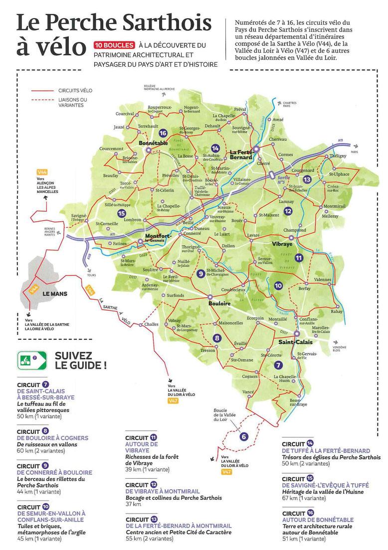 Cyclotourisme en Vallées de la Braye et de l'Anille - Le Perche Sarthois à vélo