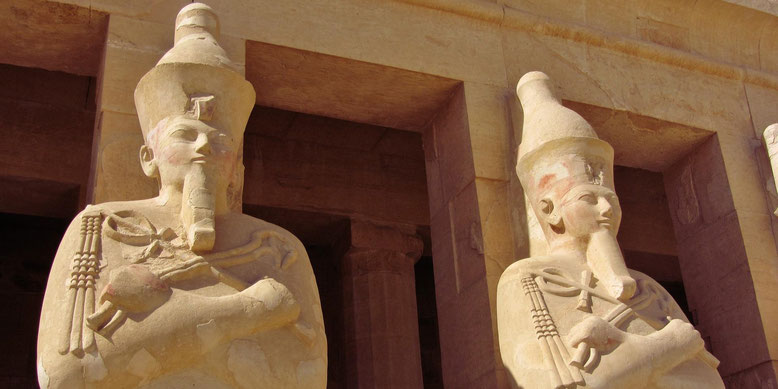 Mortuary Temple of Hatshepsut. (c. 1460 BC). Deir el Bahari.