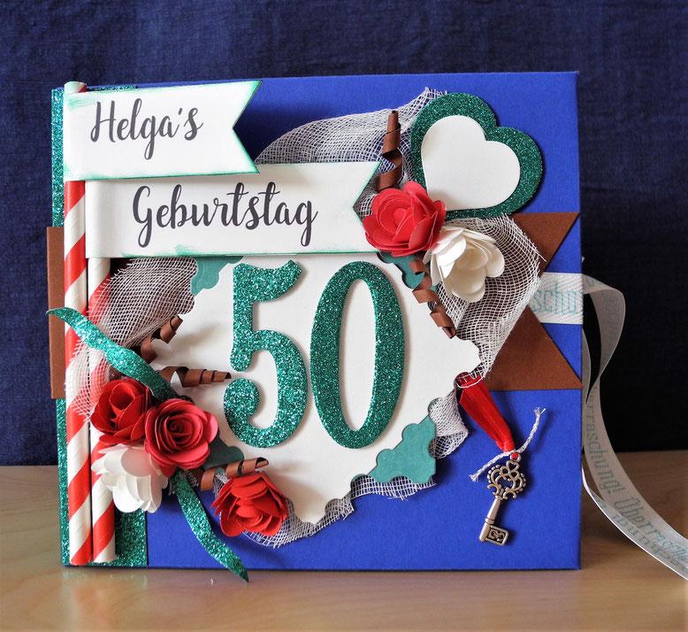 Minialbum Zum 50 Geburtstag Stoffartistik Kunststücke