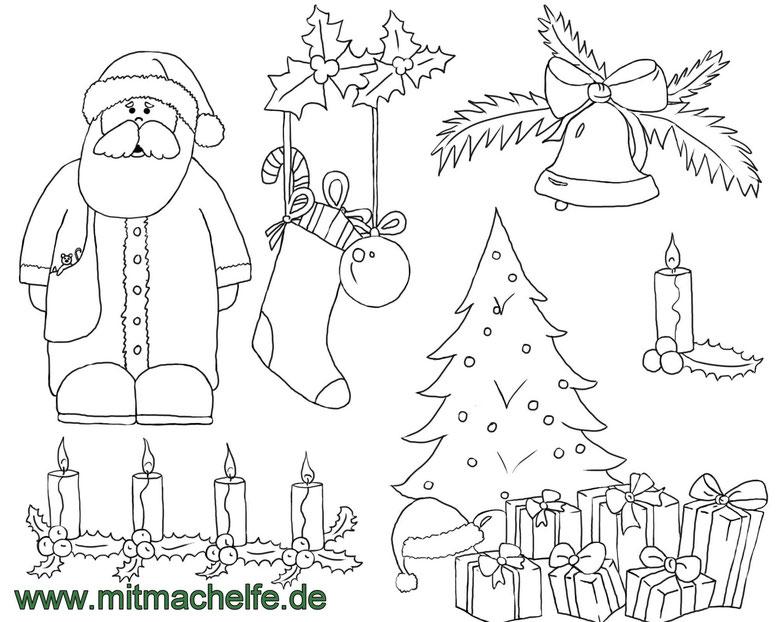 Ausmalbilder Weihnachten Und Winter Mitmachelfes Webseite Omas