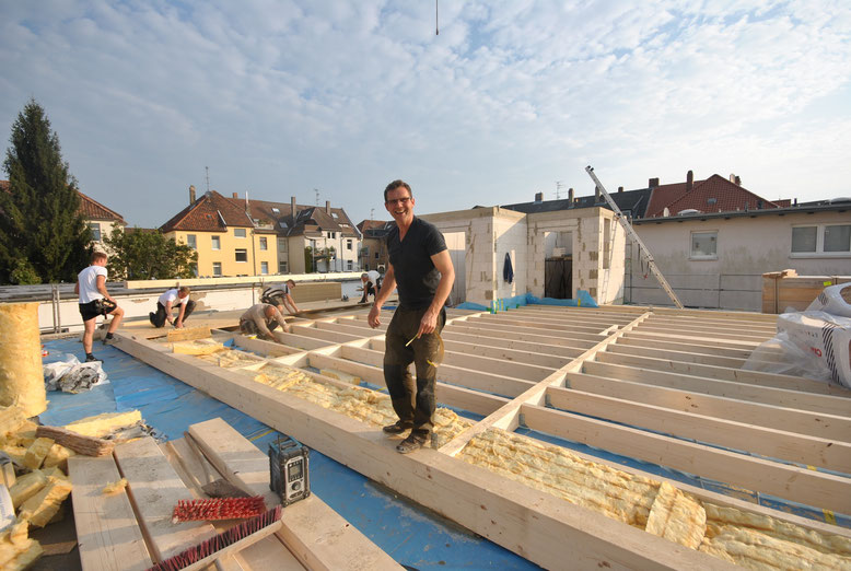 Hier entsteht die Dachgeschosswohnung