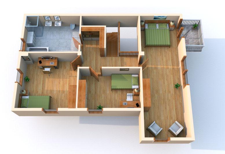 Mokka, Wohnung 22, Obergeschoss