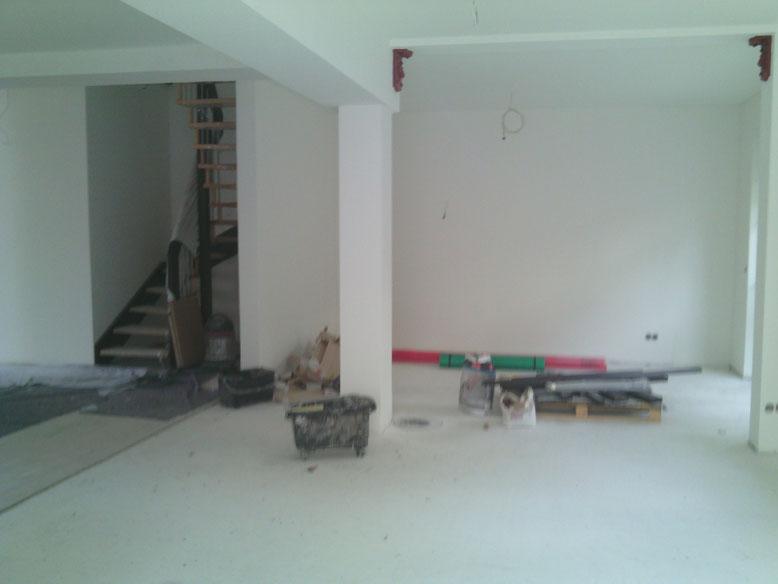 Die Endarbeiten im Haus Mokka werden erledigt.