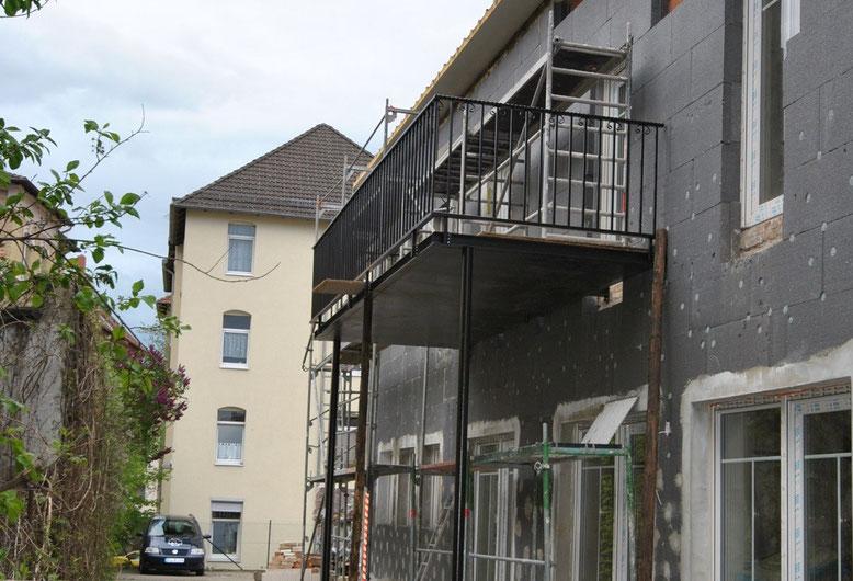 Jede Wohnung im Haus Mokka bekommt einen Balkon sowie eine Terrasse.