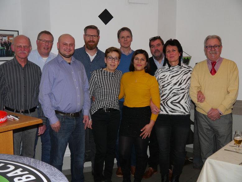 Der neue Vorstand der Metelener SPD (v.l.): Karl Watermann, Sven Asmuß, Tom van Goer, Andreas Löckner, Helene Janning, Andreas Sievert, Birsen Akgün, Christoph Vennebernd, Annette Brüning, Wolfgang Ransmann.