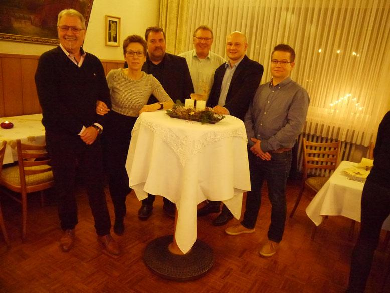 Der neue Vorstand der SPD Metelen (v.l.): Wolfgang Ransmann, Helene Janning, Christoph Vennebernd, Sven Asmuß, Tom van Goer und Michael Velder.