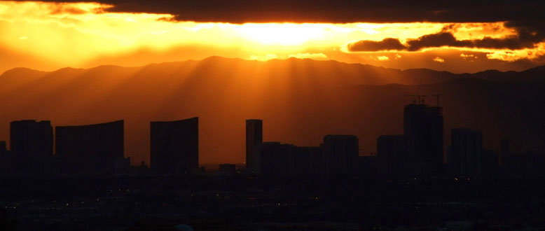 Sunset in Las Vegas, NV