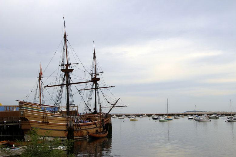 Mayflower im Hafen von Plymouth, MA
