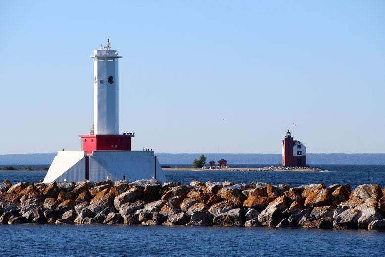 Round Island Passage Light und Round Island Light